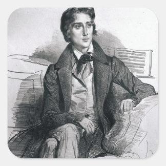 Portrait of Franz Liszt  August 1832 Square Sticker