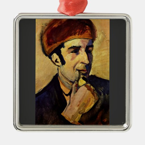 Portrait of Franz Marc by August Macke Ornaments