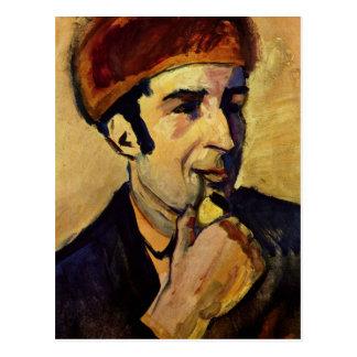 Portrait of Franz Marc by August Macke Post Card