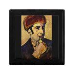 Portrait of Franz Marc by August Macke Trinket Box