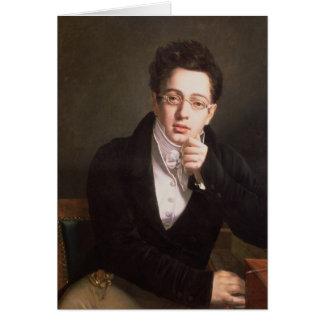 Portrait of Franz Schubert , Austrian composer Card