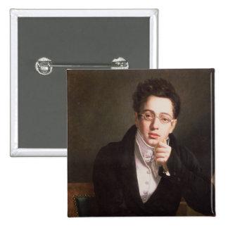 Portrait of Franz Schubert , Austrian composer Pinback Button