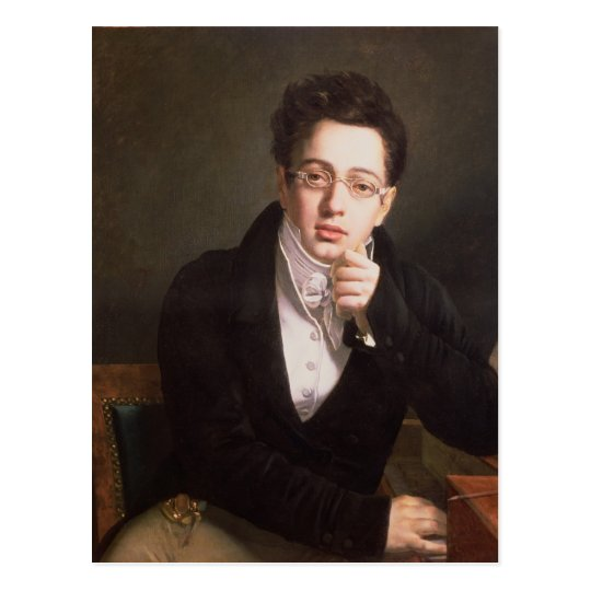 Portrait of Franz Schubert , Austrian composer Postcard