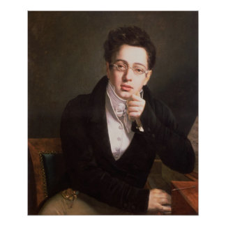 Portrait of Franz Schubert , Austrian composer Poster