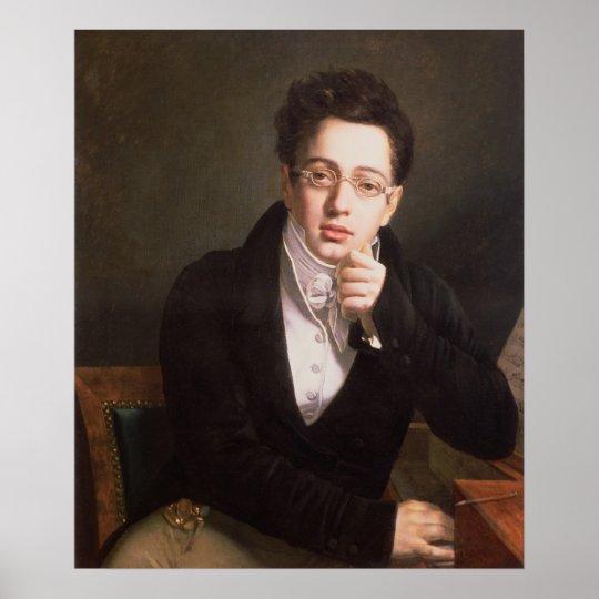 Portrait of Franz Schubert , Austrian composer Poster