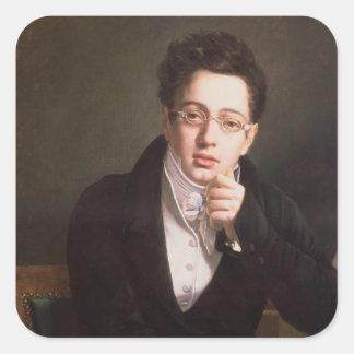 Portrait of Franz Schubert , Austrian composer Square Sticker