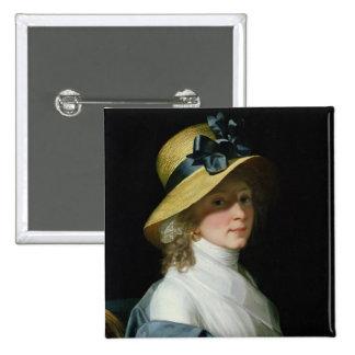 Portrait of Frau Senator Elisabeth Hudtwalcker 2 Inch Square Button