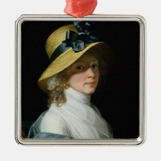 Portrait of Frau Senator Elisabeth Hudtwalcker Metal Ornament