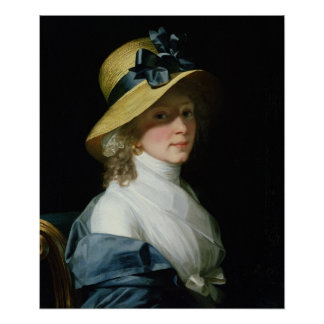 Portrait of Frau Senator Elisabeth Hudtwalcker Poster