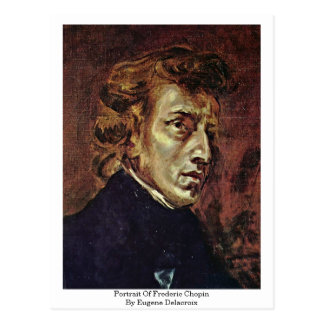 Portrait Of Frederic Chopin By Eugene Delacroix Postcard
