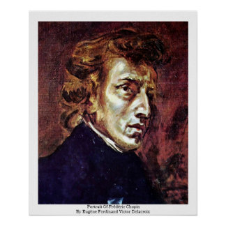 Portrait Of Frédéric Chopin Poster