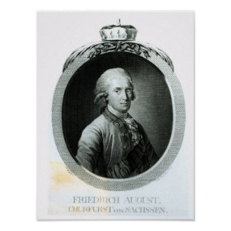 Portrait of Frederick Augustus I Poster