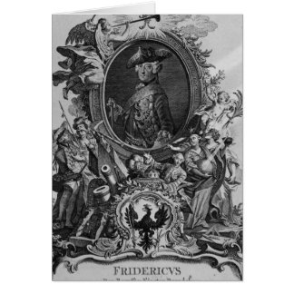 Portrait of Frederick II , engraved by Johann Greeting Card