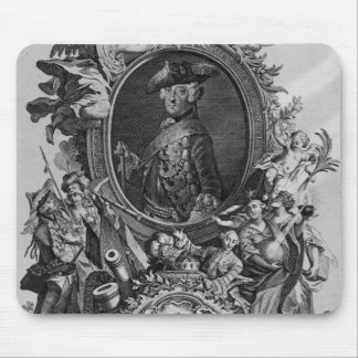 Portrait of Frederick II , engraved by Johann Mouse Pad