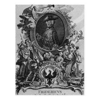 Portrait of Frederick II , engraved by Johann Postcard