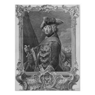 Portrait of Frederick II The Great Poster