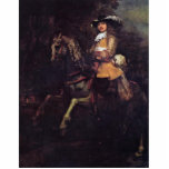 Portrait Of Frederick Rihel With Horse Acrylic Cut Out