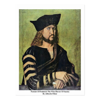 Portrait Of Frederick The Wise Elector Of Saxony Postcards