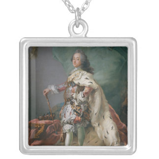 Portrait of Frederick V, 1749 Silver Plated Necklace