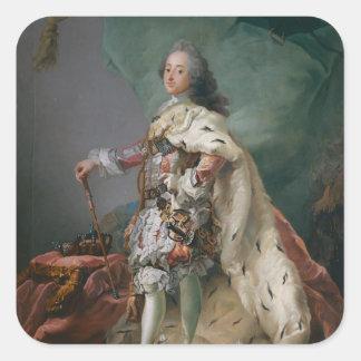 Portrait of Frederick V, 1749 Square Sticker