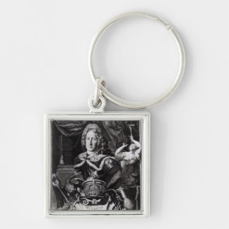 Portrait of Frederick William I Silver-Colored Square Keychain