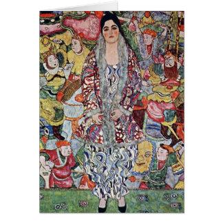 Portrait of Frederika Maria Beer by Gustav Klimt Greeting Card