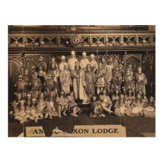 Portrait of Freemasons of the Anglo-Saxon Lodge Postcard