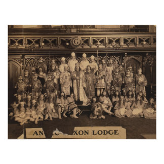 Portrait of Freemasons of the Anglo-Saxon Lodge Poster