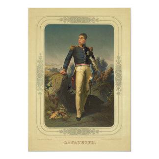 Portrait of French General Marquis de Lafayette Card