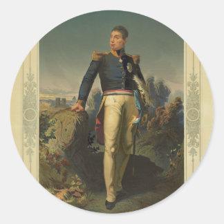 Portrait of French General Marquis de Lafayette Classic Round Sticker