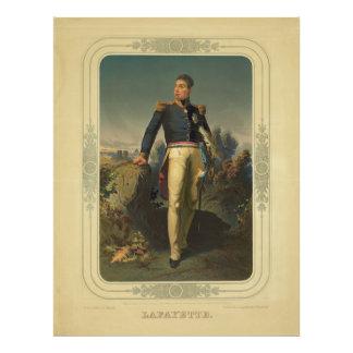 Portrait of French General Marquis de Lafayette Photo Art