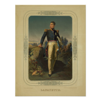 Portrait of French General Marquis de Lafayette Poster