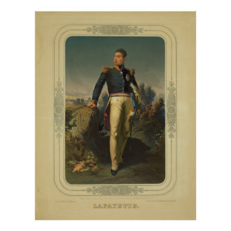 Portrait of French General Marquis de Lafayette Poster