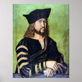 Portrait of Friedrich des Weisen by Albrecht Durer Poster