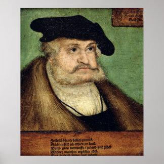 Portrait of Friedrich III  Elector of Saxony Poster