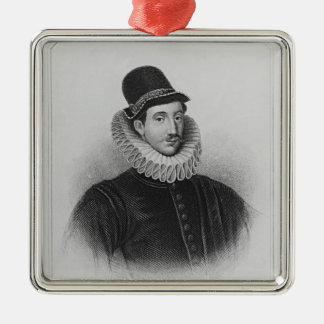 Portrait of Fulke Greville  1st Baron Brooke Metal Ornament