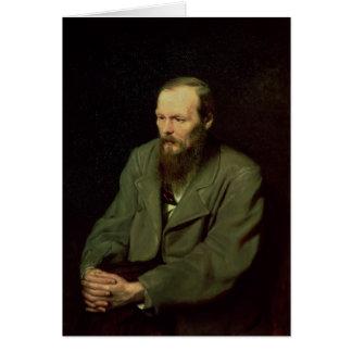 Portrait of Fyodor Dostoyevsky  1872 Greeting Card