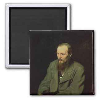 Portrait of Fyodor Dostoyevsky  1872 2 Inch Square Magnet