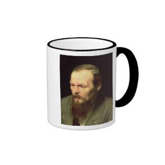 Portrait of Fyodor Dostoyevsky  1872 Ringer Mug