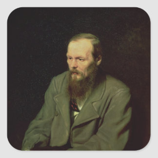Portrait of Fyodor Dostoyevsky  1872 Square Sticker
