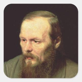 Portrait of Fyodor Dostoyevsky  1872 Square Sticker