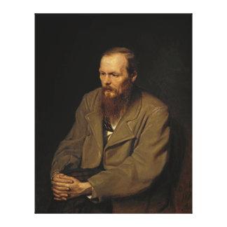 Portrait of Fyodor Dostoyevsky by Vasily Perov Canvas Print