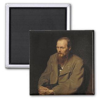 Portrait of Fyodor Dostoyevsky by Vasily Perov 2 Inch Square Magnet