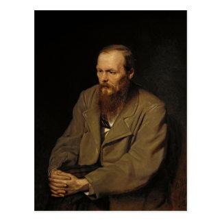 Portrait of Fyodor Dostoyevsky by Vasily Perov Postcard