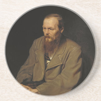 Portrait of Fyodor Dostoyevsky by Vasily Perov Sandstone Coaster