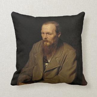Portrait of Fyodor Dostoyevsky by Vasily Perov Throw Pillow