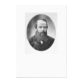 Portrait of Fyodor Mikhailovich Dostoyevsky Canvas Print