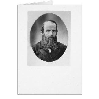 Portrait of Fyodor Mikhailovich Dostoyevsky Greeting Cards