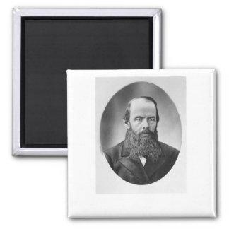 Portrait of Fyodor Mikhailovich Dostoyevsky 2 Inch Square Magnet