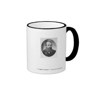 Portrait of Fyodor Mikhailovich Dostoyevsky Ringer Coffee Mug